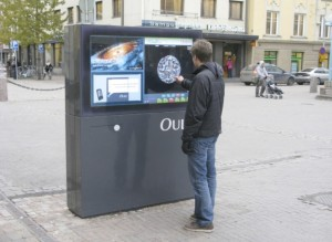 Photo of the public displays in Oulu, Finland.