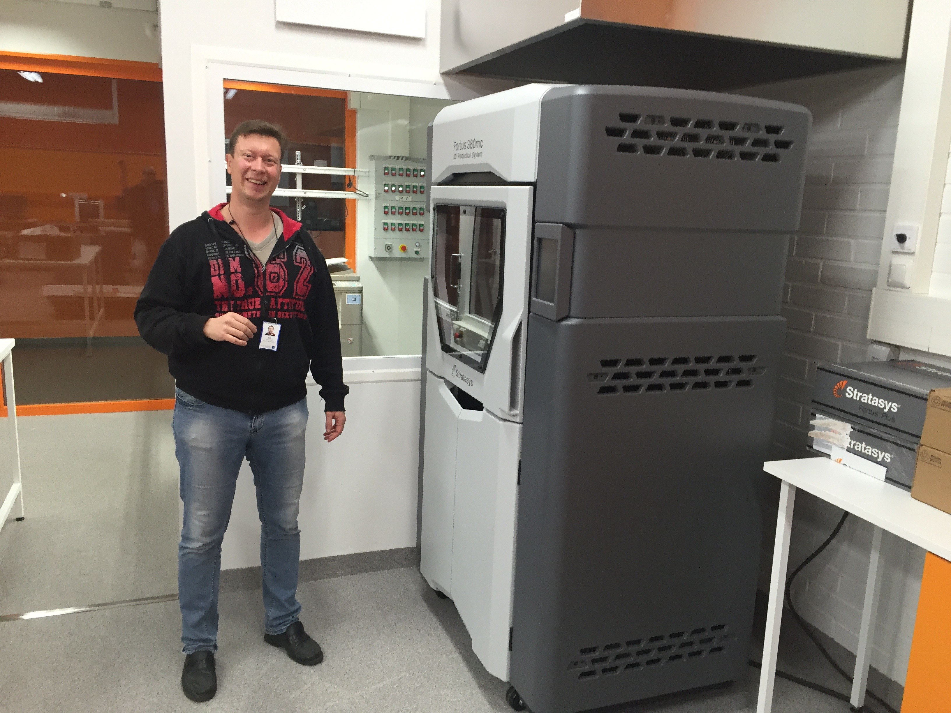 View of the 3D printer