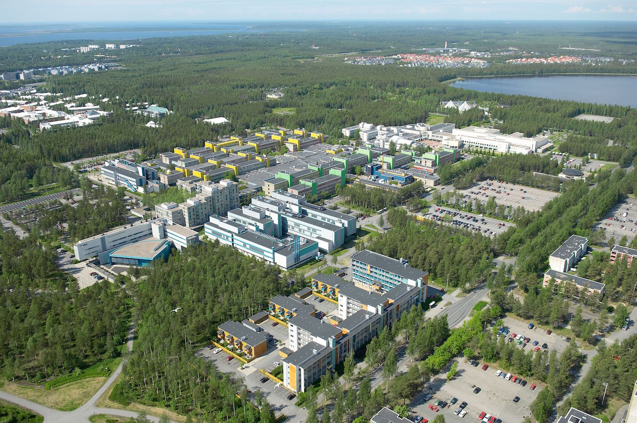 Aerial view of our campus (facing NW)