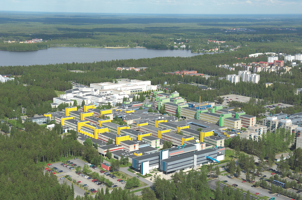 Aerial view of our campus (facing NE)