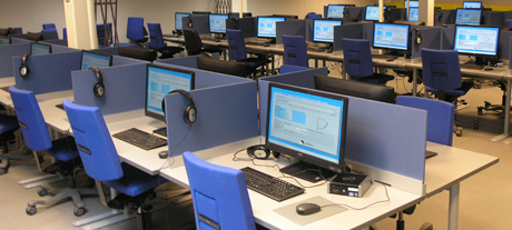 Workstations in one of the student PC labs.