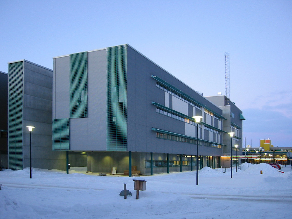 View of our building (winter)