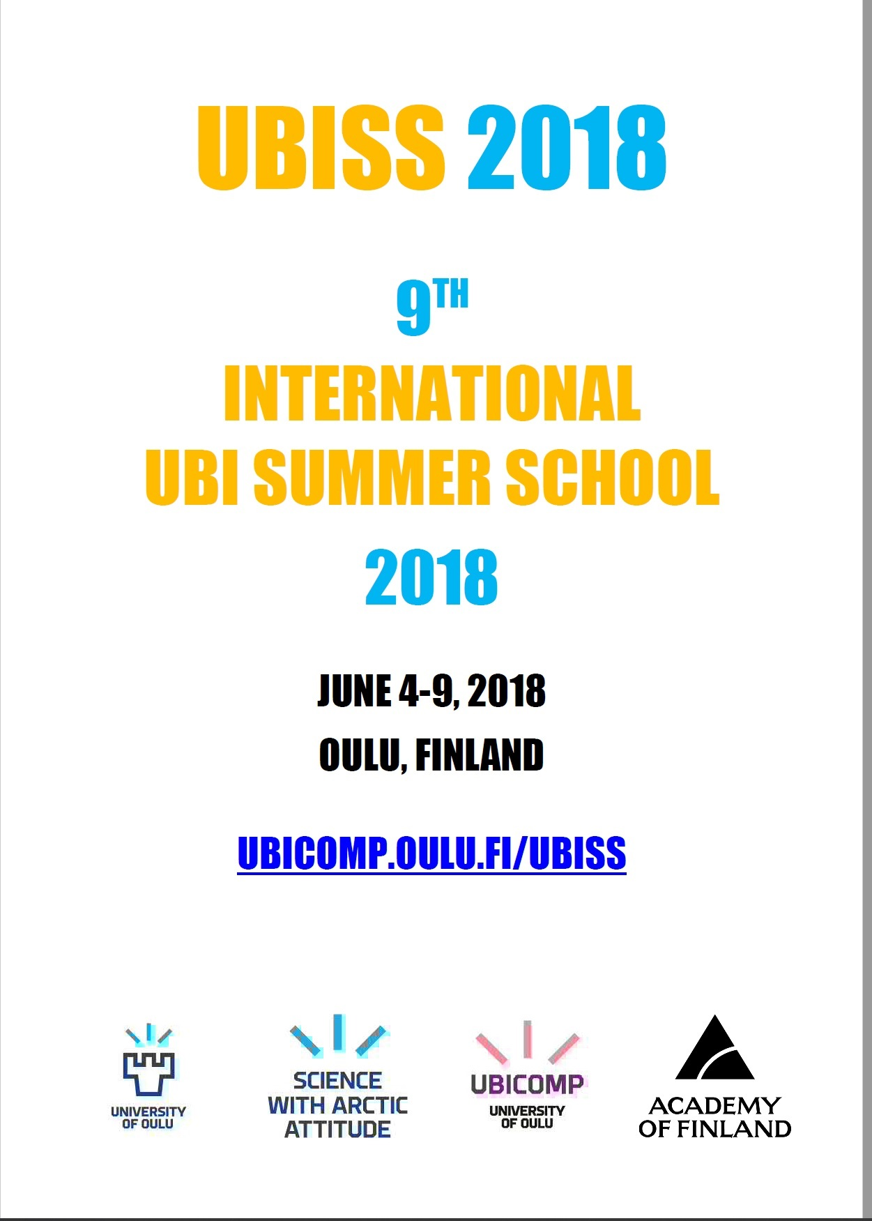 UBISS 2018 Program