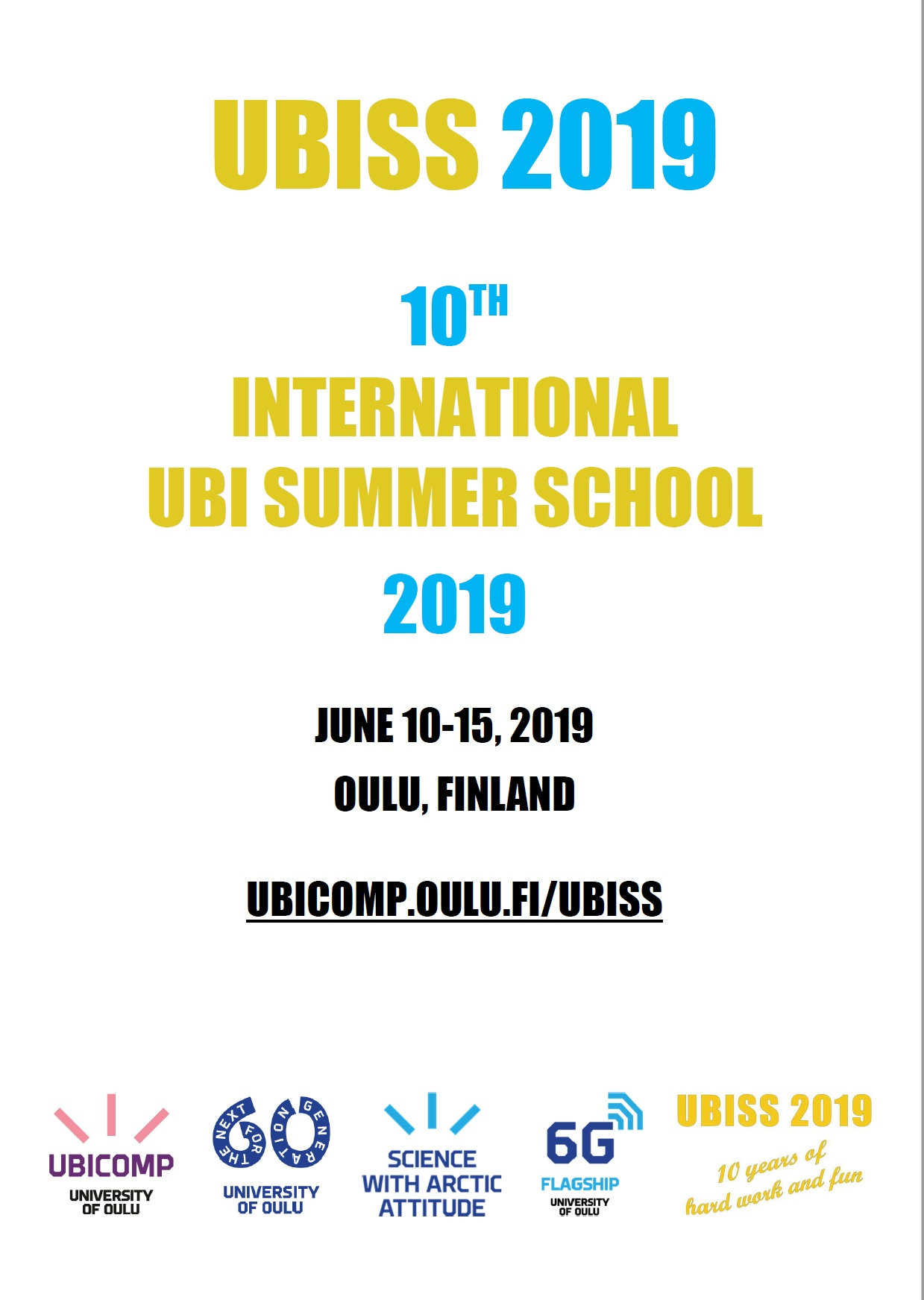 UBISS 2019 Program